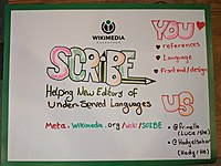 Wikimania 2019 Hackathon poster - Scribe.jpg