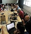 Wikimedia CH team at work MAMCO Geneva 001.jpg