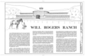 Will Rogers Ranch, 14253 Sunset Boulevard, Pacific Palisades, Los Angeles County, CA HABS CAL,19-PAPA,1- (sheet 1 of 2).png