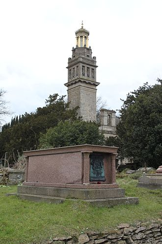 William Thomas Beckford - Beckford's tomb with the tower in the background