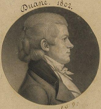 William Duane (journalist) - Image: William Duane