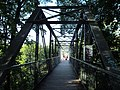 Willimantic pedestrian bridge, south end.JPG