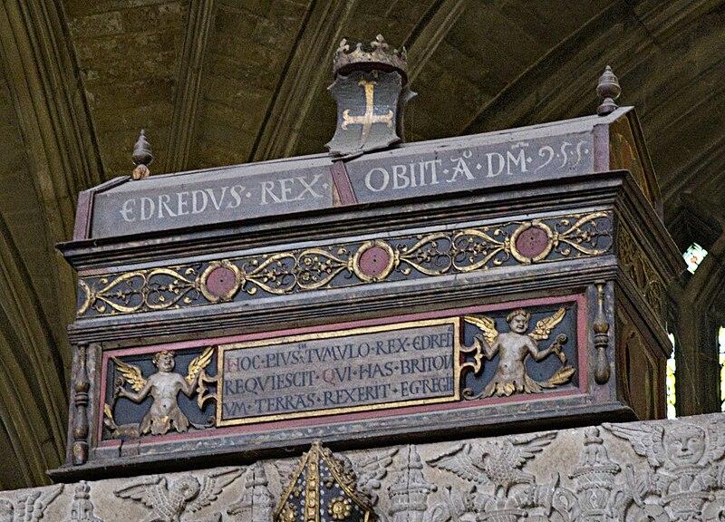 Mortuary chest i Winchester Cathedral som hevdes å inneholde Edreds levninger