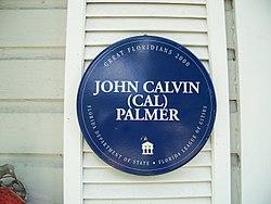 Photo of John Calvin Palmer plaque