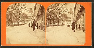 Park Street, Boston - Image: Winter scene in Park Street, by John B. Heywood