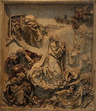 National Museum, Kraków - Christ in the Garden of Gethsemane, bas-relief by Veit Stoss.