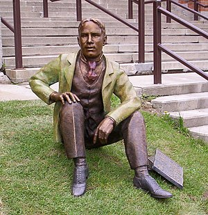 Kitchener-Waterloo Collegiate and Vocational School - Statue of W.L.M. King, on the school's lawn