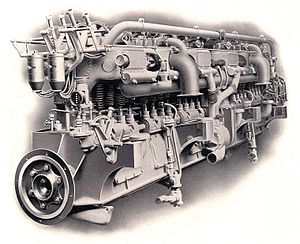 Straight-12 engine - A 1905 Wolseley straight-12, 360 hp, petrol or oil marine engine