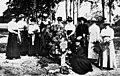 Women gathered around a grave in Yeronga Park during World War One (8862019979).jpg