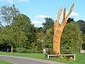 Wooden Sculpture, Fishponds - geograph.org.uk - 255863.jpg