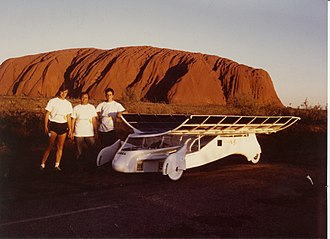 Rolf Disch - Rolf Disch and his team during the World Solar Challenge race in Australia in 1987.