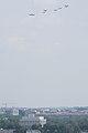 World War II era planes fly over Washington, D.C. seen from Arlington National Cemetery (16809203444).jpg