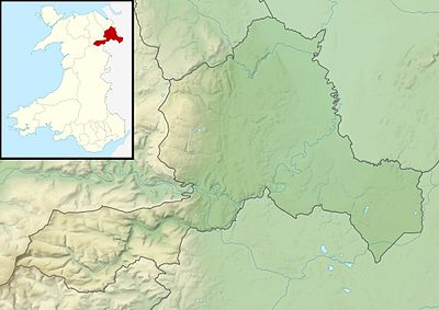 Location map Wales Wrexham