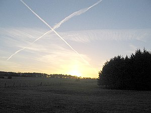 X marks the spot ... A view looking west towar...