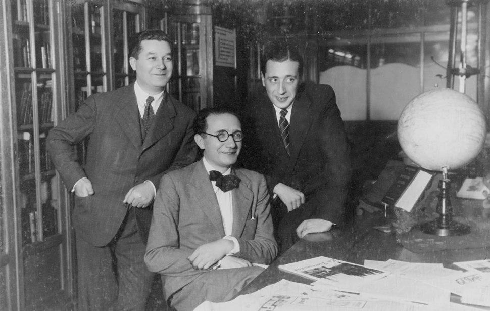 Xesús Canabal, Castelao e Manuel Meilán, Montevideo, 1940