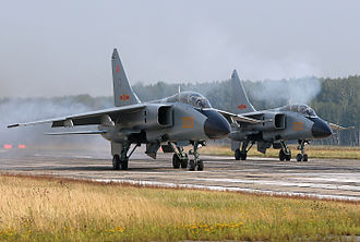 Xi'an JH-7 - Two JH-7As at Chelyabinsk Shagol Air Base