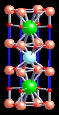Kristallstruktur von Yttrium-Barium-Kuferoxid