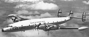 Lockheed L-1249 Super Constellation - The second YC-121F in flight.