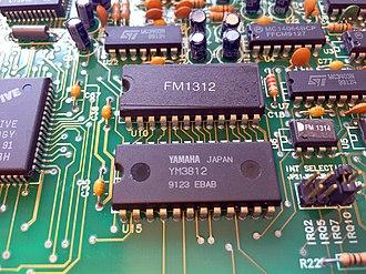 Yamaha YM3812 - Image: YM3812 sticker overlay