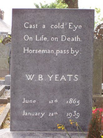 1939 in poetry - Yeats' gravestone, with his famous epitaph, erected 1948.