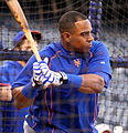 Yoenis Cespedes takes BP on -WSMediaDay (22912692655).jpg