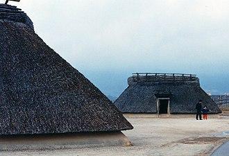 Yoshinogari site - Reconstructed dwellings.