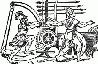 Roman siege engines - Roman springald.