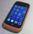 ZTE Open mobile phone with home screen of Firefox OS v1.0.0B02.png