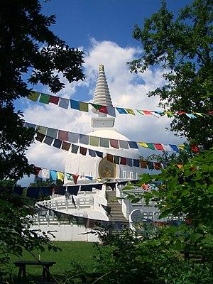 Buddhism in Hungary - The 33-meter-high stupa in Zalaszántó