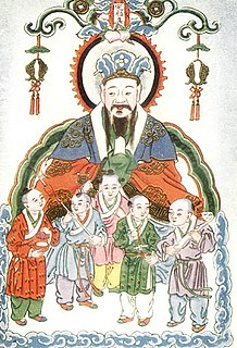 Five Grains group of five farmed crops, important in ancient China, whose cultivation was regarded as a sacred boon from a mythological or supernatural source