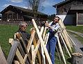 Zaunreparatur beim Museum Arlerhof in Abtenau 21.JPG