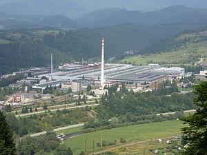 Podbrezová - View on industrial quarter