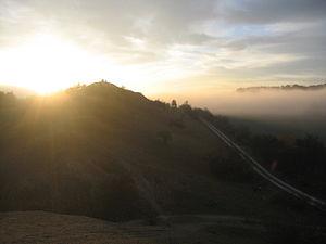 Ziegenberg (Saxony-Anhalt) - Sunrise over the Ziegenberg hill itself, seen from the Struvenberg
