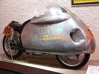 Motorcycle fairing - NSU Sportmax 1955, dustbin fairing