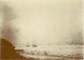 """""""A View of the Town of Halifax from the Dartmouth Shore"""" (1791) by Hibbert Binney, Nova Scotia Archives.png"""