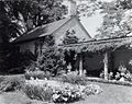 """Chatham,"" Colonel Daniel Bradford Devore house, 120 Chatham Lane, Fredericksburg, Stafford County, Virginia. Porch and reflecting pool.jpg"