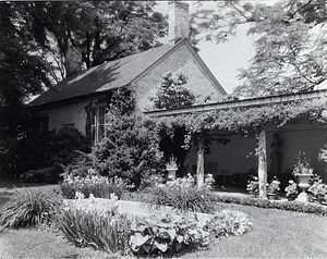 William Fitzhugh - Chatham Manor, 120 Chatham Lane, Fredericksburg, originally built by William Fitzhugh, 1768-1771, restored, with changes, by Oliver H. Clark for Daniel Bradford Devore, from 1920. Landscape: Ellen Biddle Shipman, from 1922. David Hanlon, gardener.