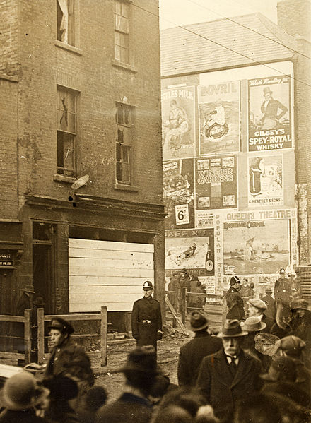 "File:""Street scene with advertising hoardings"" but where? Corner of Summerhill and Langrishe Place! (9155805097).jpg"