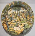 'Apollo and Muses on Mount Parnassus', tin-glazed earthenware plate, Cincinnati.JPG