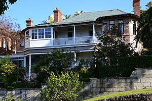 Wolseley Road - Image: (1)Point Piper house e