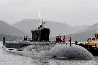 Borei-class submarine - Image: «Александр Невский» в Вилючинске