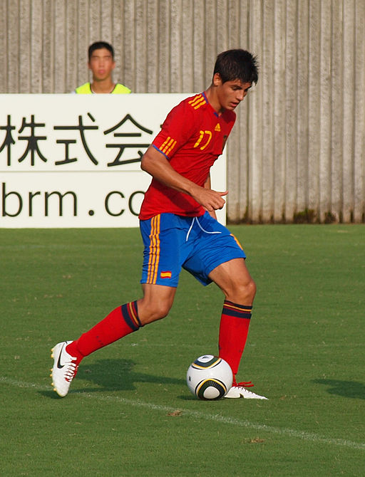 Álvaro Morata, Spain U-19, SBS Cup 2010 in Fujieda, Japan (cropped)