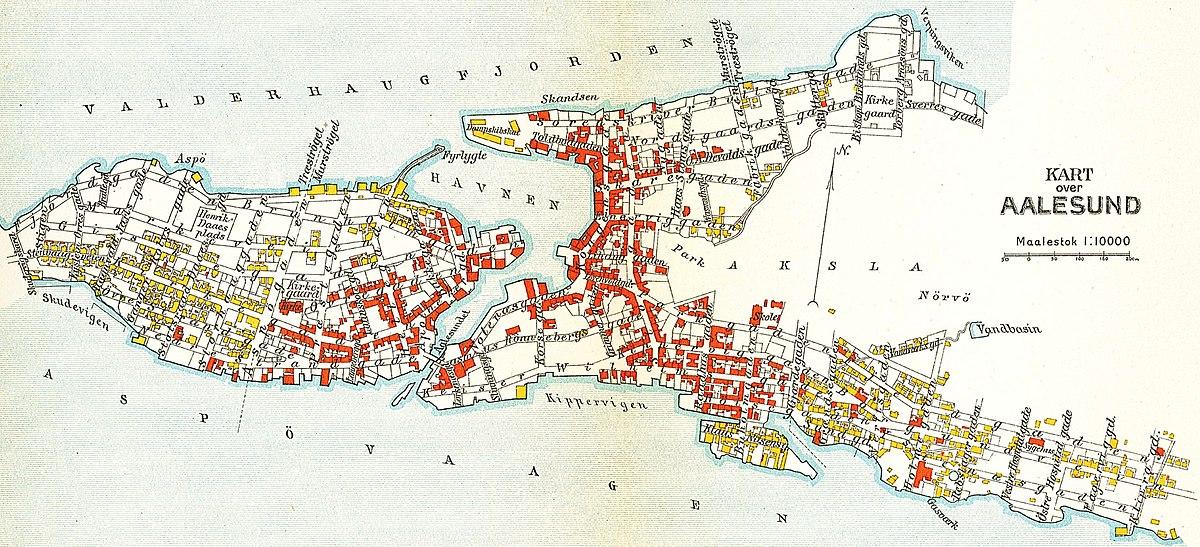 File Alesund Map 1911 Jpg Wikimedia Commons