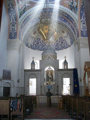 Vardges Sureniants - Much of the interior decorations of the Armenian church in Yalta was done by Sureniants