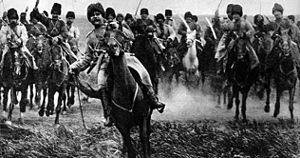 Brusilov Offensive - Attack of Russian cavalry (1916)