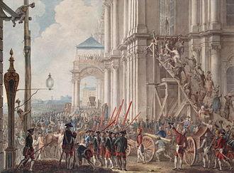 1762 in Russia - Екатерина на балконе