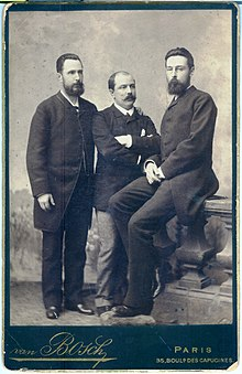 Pierre Carbonier (center) with ichthyologists Nikolai Zolotnitsky and Andrey Meshcherskiy