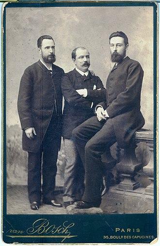 Pierre Carbonnier - Pierre Carbonier (center) with ichthyologists Nikolai Zolotnitsky and Andrey Meshcherskiy