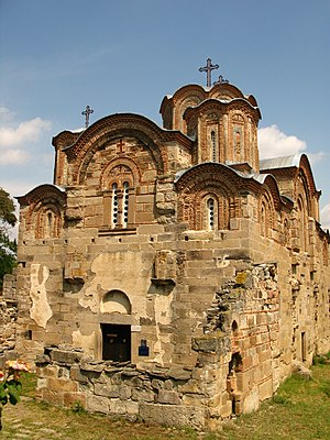 Battle of Velbazhd - The Serbian army attended holy liturgy in the church of Saint George in Staro Nagoričane, prior to the battle. The Serbian king buried the deceased Bulgarian emperor in crypt of the church after he was slain in the battle.