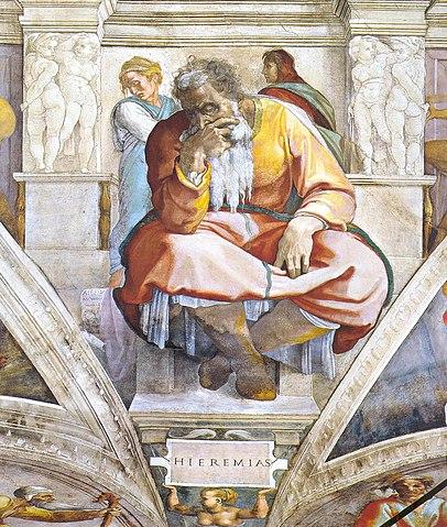 Michelangelo, The Prophet Jeremiah